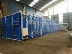 山东环保设备移动伸缩房废气处理设备光氧催化吸尘柜烤漆房