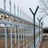小区别墅围挡铁艺护栏 防护栏杆源头产地